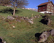 Lanes to alps and bridge on Grabser-Berg