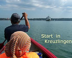 Kanadiertour über Bodensee und Rhein
