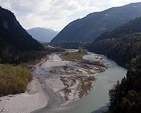 Alluvial zones near Rhäzüns