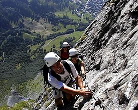 Klettersteig Basel : Klettersteig jägihorn klettersteige via ferratas in saas grund