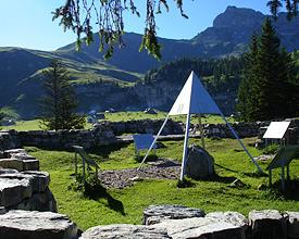 Älggialp geogr. Mittelpunkt der Schweiz