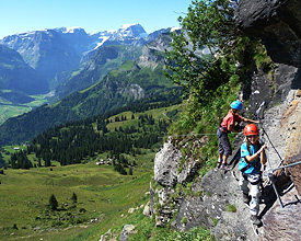 Via Ferrata climbing routes