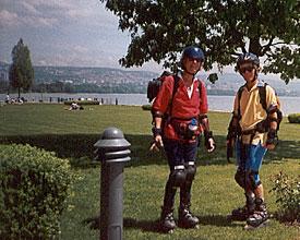 Heisse Rollen nasse Rollen – Skatetour Brig–Genf Pfingsten 2002