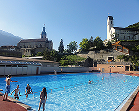 Sand Chur outdoor swimming pool