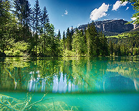 Baignade naturelle Lac de Cresta Trin