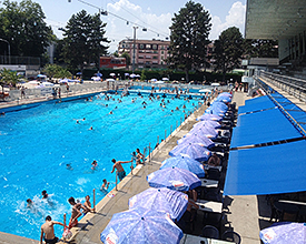 Montchoisi outdoor pool in Lausanne