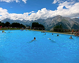 Outdoor pool in Nendaz