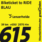 Biketicket to RIDE (blau)