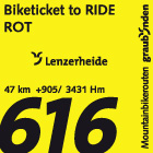 Biketicket to RIDE (rot)