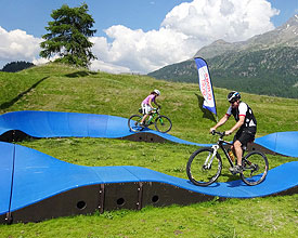 The pumptrack at the Sports Center Mulets Silvaplana