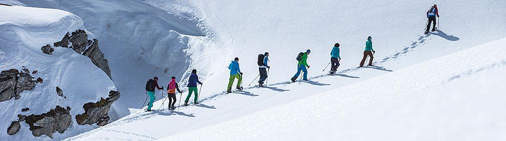 Falera-Curnius Schneeschuhlaufen