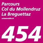 Parcours Col du Mollendruz–La Bréguettaz