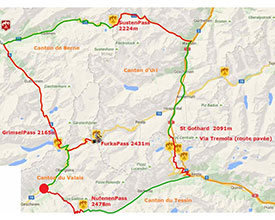 Three days, four cantons (Valais, Ticino, Uri, Bern), three languages, 5 paths ...