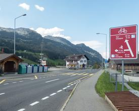 Route panorama alpin